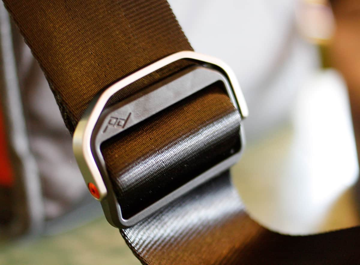 Adjustable strap bracket with handle