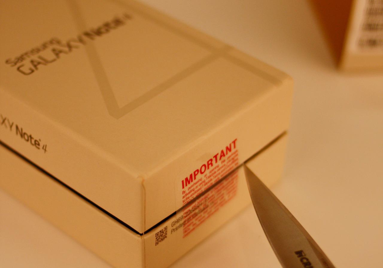 Cut the box open